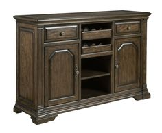 Bar sideboard with wine rack from the Berwick Court collection by Kincaid. New for #hpmkt Spring 2015.