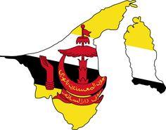 Brunei  http://1.bp.blogspot.com/-U2FlNQ-dkFE/Tf7IYePhZ1I/AAAAAAAAM3E/AvvvD_HLcKA/s1600/brunei+flag+map.png