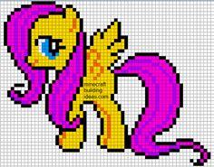 Minecraft Pixel Art Templates: Fluttershy pony