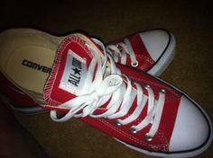 Red Chuck Taylor's #Converse #AllStars