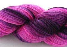 Hand dyed fuchsia yarn - ultraviolet yarns