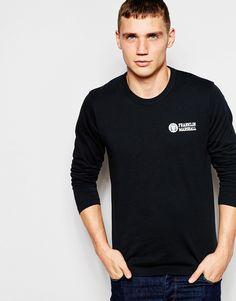 Langärmliges T-Shirt von Franklin & Marshall weiches Jersey Rundhalsausschnitt typisches Logomotiv reguläre Passform - entspricht den Größenangaben Maschinenwäsche 100% Baumwolle Model trägt Größe M und ist 189cm/6 Fuß und 2,5Zoll groß
