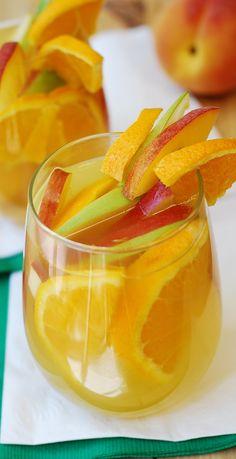 White Sangria: Peaches, Apples, Oranges   Flickr - Photo Sharing!