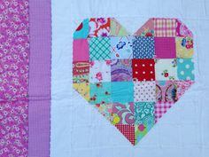 Have a heart crib quilt throw by babyburritoquilts on Etsy, $145.00