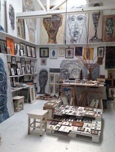 Mart Visser More Art Atelier, Atelier Photo, Art Studio Room, Studio Spaces, Artist Workspace, Dream Studio, Dream Art, Creative Studio, Art Studios