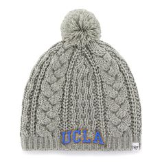 size 40 b4a38 d6c24 UCLA Bruins  47 Brand Women s Kiowa Ski-Knit Beanie - Gray