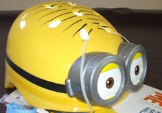 Minion Bicycle Helmet Despicable Me Stuart Kids Childrens Two Eyes Hot Item VHTF #SkyRocket