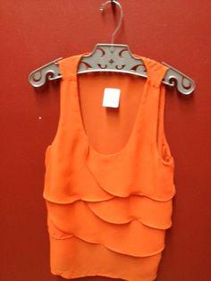 Orange blouse! ♥ the bright colors!