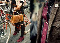 London's annual Tweed Run bicycle race