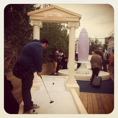 Crazy golf on Selfridges rooftop, London by Bombas & Parr - hole 1.
