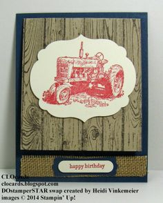 Weekly DEALS from Stampin' Up!  Great Harvest Blessings card created by Heidi Vinkemeier.  Check it out - lots more pics on #CLOcards blog!