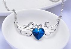 Love Heart Wings Pendant Only $3.99 + Free Shipping