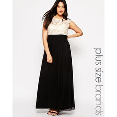 Little Mistress Plus Maxi Dress With Contrast Top ($81) ❤ liked on Polyvore featuring dresses, tall maxi dresses, black dress, plus size maxi dresses, tall dresses and black keyhole dress