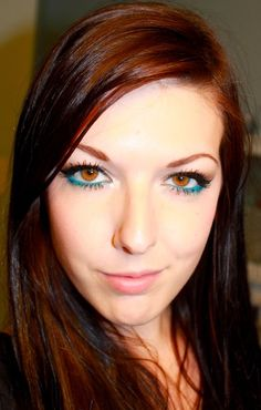 Simple Brown and Blue makeup http://www.makeupbee.com/look.php?look_id=65343