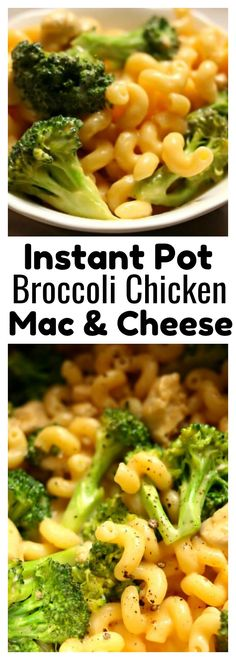 Instant Pot Broccoli Chicken Mac and Cheese–creamy macaroni and cheese made quickly in your instant pot with tender bites of chicken and (not crisp, but not mushy) broccoli florets. This is an easy one pot meal that the whole family will love! #instantpot #instapot #macandcheese #pressurecooker