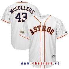 426760cba Men s Houston Astros Lance McCullers Majestic White 2017 Postseason Cool  Base Player Jersey