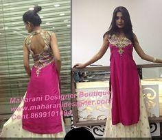 #BuyDesignerDresses Khadi Silk& Handwork Price :10000/- www.maharanidesigner.com Cont.8699101094