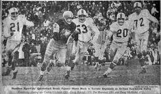1961 - Hamilton vs Toronto Football Icon, Sport Football, Canadian Football League, Vintage Football, Hamilton, Toronto, Legends, The Past, Retro