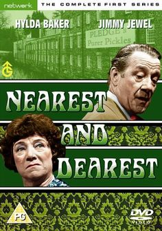 """Nearest And Dearest with Hilda Baker as Nellie Pickersgill owner of a pickle factory along with Jimmy Jewel."""" Oh you big girls blouse"""" and """"can you hear me Walter? Native American Humor, Native Humor, British Tv Comedies, British Comedy, Indian Jokes, British Humor, 24 September, Comedy Tv, Friday Humor"""