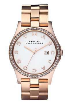 MARC BY MARC JACOBS 'Henry' Rose Gold Watch by nordstrom
