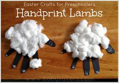 Easy Easter craft for preschoolers and toddlers: handprint lambs. Easter Craft Show Ideas Daycare Crafts, Sunday School Crafts, Toddler Crafts, Preschool Crafts, Crafts For Kids, Preschool Prep, Toddler Games, Preschool Education, Spring Crafts