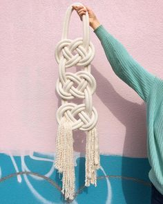 Thoughtful gift ideas #Cambie #Design #Cambiedesign #cotton #knot #wallhanging #Handmade #MadeinCanada