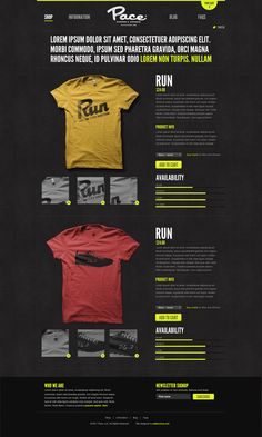 Pace Runner's Apparel by Nate Scronce, via #Behance #Webdesign