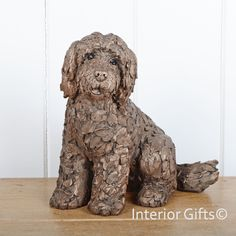 COCKAPOO SITTING Frith Cold Cast Bronze Sculpture by Adrian Tinsley perfect gift or present for the dog lover, Cocker Spaniel and Poodle Cross Dog Sculpture, Animal Sculptures, Bronze Sculpture, Metal Sculptures, Abstract Sculpture, Clay Studio, Black Labrador Retriever, Stone Crafts, Cockapoo