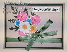 Paper Pumpkin-Feb Wishes Paper Pumpkin, Wild Flowers, Wish, Stampin Up, Happy Birthday, Frame, Cards, Decor, Happy Brithday