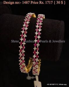 Cz and ruby bangles