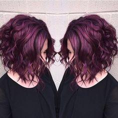 "Was ist die neue Trend-Haarfarbe ""Pagenta""? What is the new trend hair color ""Pagenta"" ? Hair Color Purple, Hair Color And Cut, Haircut And Color, Brown Hair Purple Highlights, Pixie Hair Color, Purple Bob, Purple Haze, Color Black, Colour"