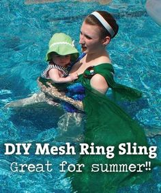 This easy DIY mesh sling is great for bringing toddlers into the pool. | 31 Products Every Parent Of A Growing Child Will Want