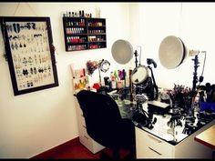 """#Rangement #Makeup Vidéo """"Mon rangement / Ma collection Makeup"""" par la blogueuse #Julielovesmac07."""