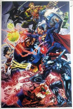 Superman and Justice League by Ivan Reis