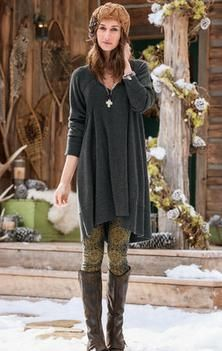 ISABELLA TUNIC DRESS...love the leggings and boots with it