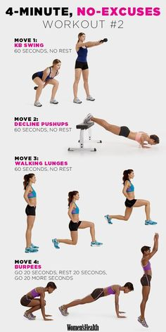 Fire Up Your Metabolism with These 4-Minute Workouts  http://www.womenshealthmag.com/fitness/4-minute-workout