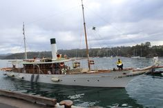 RESTORED: Steam Yacht Ena, one of the finest examples of an Edwardian period steam yacht in the world. Designed by renown Sydney naval architect Walter Reeks and built in 1900 by WM Ford Boat builders in Berrys Bay. It showed that Australians could design and build a luxury craft to the highest European standards.