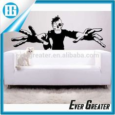 Spooky Gamer-Inspired Ornaments Halloween Wall Decals #gamer, #Decorations