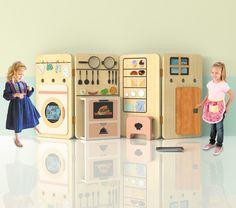 Wooden foldable kitchen design - HabitatKid blog