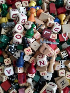 Game pieces- add to a glass container for a splash of color                                                                                                                                                                                 More