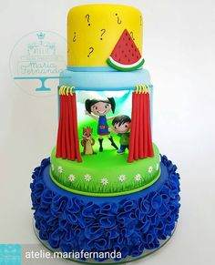 Que lindo esse bolo com o from - 🎶 Esse é o show da Luna, Luna, Luna! Esse é o show da Luna Tudo o que é pergunta a Luna faz! Birthday Cake, Desserts, Instagram, Cakes, Food, Alice, Dress, Design, Theme Cakes