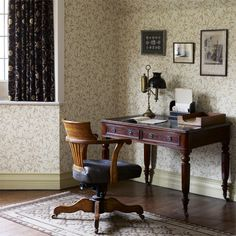 Trailing leaves and marigold flowers meander over a background of leaves creates this classic wallpaper design from Morris & Co. Interior Wallpaper, Wall Wallpaper, William Morris, Retro Home Decor, Vintage Decor, Craftsman Wallpaper, Light Brick, Buy Wallpaper Online, Medieval Books