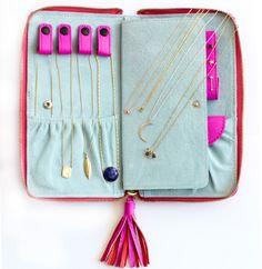 ariel gordon leather jewelry case. Jewelry Case, Jewelry Travel Case, Travel Jewelry Organizer, Diy Necklace Travel Case, Jewelry Box, Jewelery, Anniversary Ideas, Anniversary Jewelry, Emerald Pendant