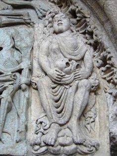 Mujer adúltera. Puerta de las Platerías