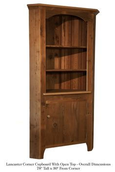 Corner Cabinet With Open Top Corner Cupboard, Cherry Finish, Cupboards,  Cabinets, Family