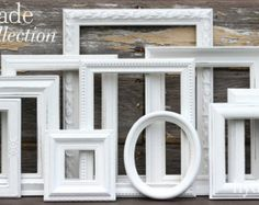 shabby chic white frames picture frame set ornate frames cream rh pinterest com