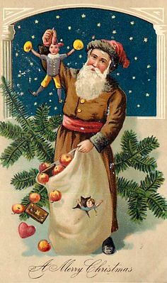 Vintage St. Nick card.