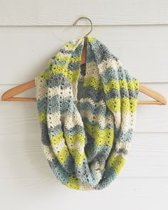 Crochet Chevron Infinity Scarf                                                                                                                                                                                 More