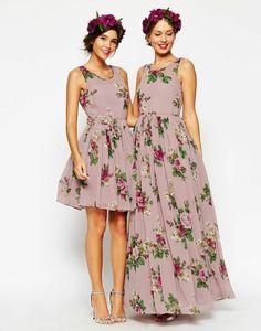 Blumenkleider kurz und lang von Asos