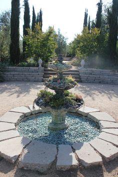 Succulent Fountain At Arlington Garden. Master Plan Designed By Mayita  Dinos Garden Design.